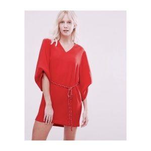 Suncoo Paris Kimono oversized red mini dress